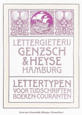 2019.02.21 - Amazing Century-Old Book Industry Ads - Lettergieterij Genzsch and Heyse 4