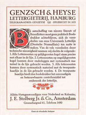 2019.02.21 - Amazing Century-Old Book Industry Ads - Lettergieterij Genzsch and Heyse 5