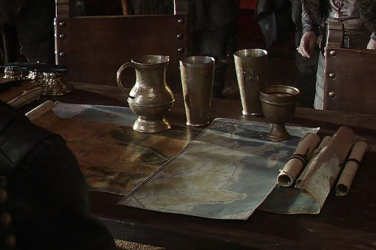 GoT S01E08 00.45.33 - Tywin Lannister's war tent - close-up of maps
