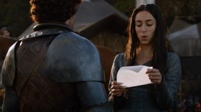 GoT S02E06 00.40.54 - Talisa writing a letter