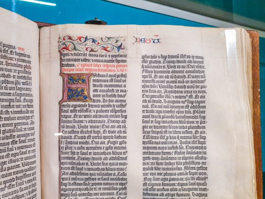 Page of the vellum Gutenberg Bible
