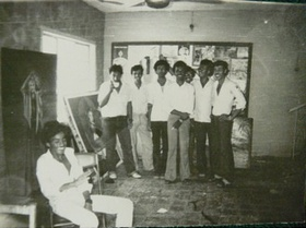 The free workshop in Aden, 1978.