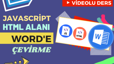 Photo of Javascript İle HTML Alanı Word'e Aktarma