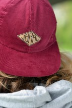 Cap red brown Labeled