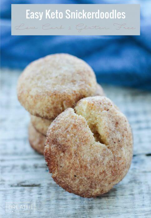 Crunchy on the outside and tender on the inside, these low carb snickerdoodles do not disappoint!!!