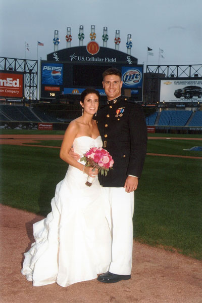 getting married at a baseball game