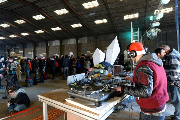 DJs were part of the huge illegal rave in a disused hangar