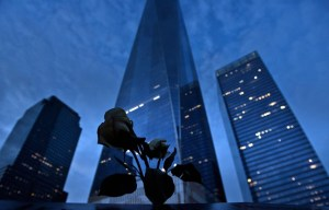 Une vue du one world trade center a ground zero samedi 10 septembre 2016 veille du 15è anniversaire