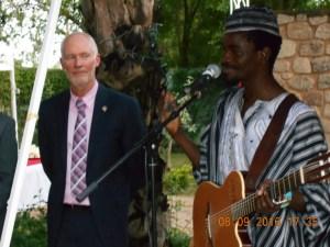L'artiste musicien Patrice Kabré a émerveillé les invités