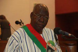 Le président de l'Assemblée nationale, Dr. Salifou Diallo, lors de son discours d'ouverture de la 2è session ordinaire