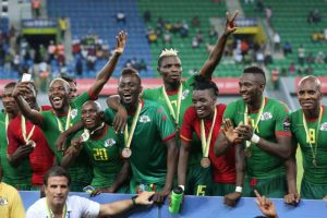 Les Étalons du Burkina après leur victoire face au Ghana ( 1-0)