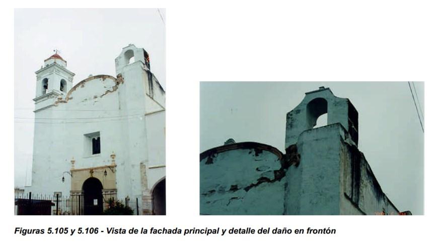 daños al templo de san francisco tehuacan temblor de 1999