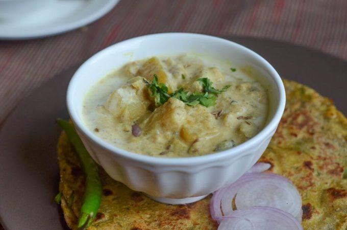 Aloo gravy, Potato gravy, Potato subzi, Potato side-dish