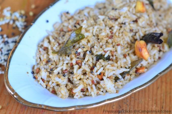 Sesame seeds rice
