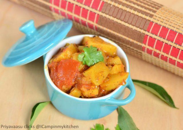 Potato side-dish, Potato gravy, Potato curry