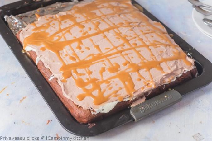 Eggless chocolate sheet cake