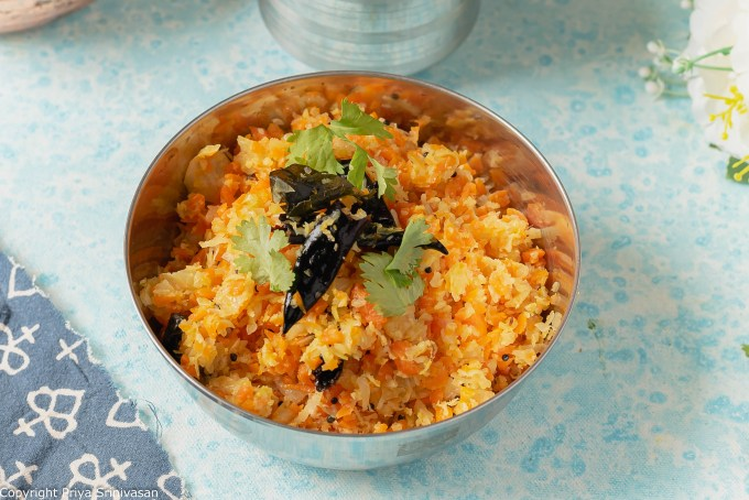 Cabbage & carrot suzbi