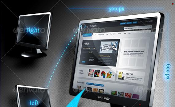 Web-monitor-premium-photoshop-actions