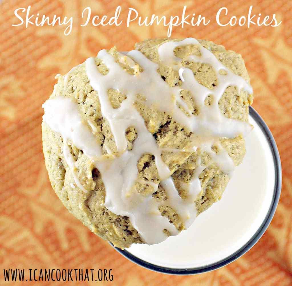 Skinny Iced Pumpkin Cookies
