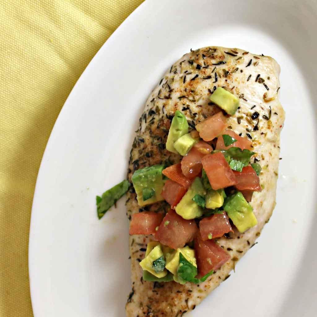 Seared Chicken with Avocado Salsa