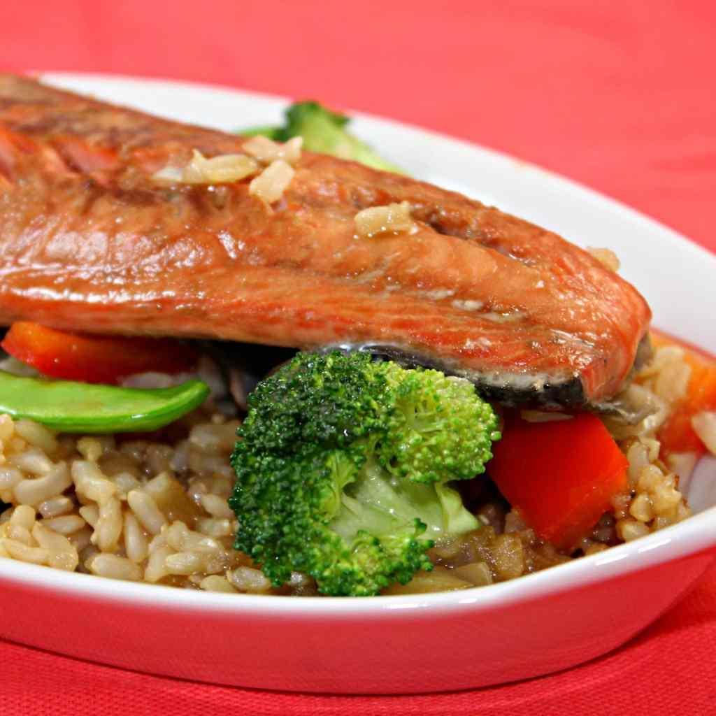 Salmon Teriyaki Stir Fry