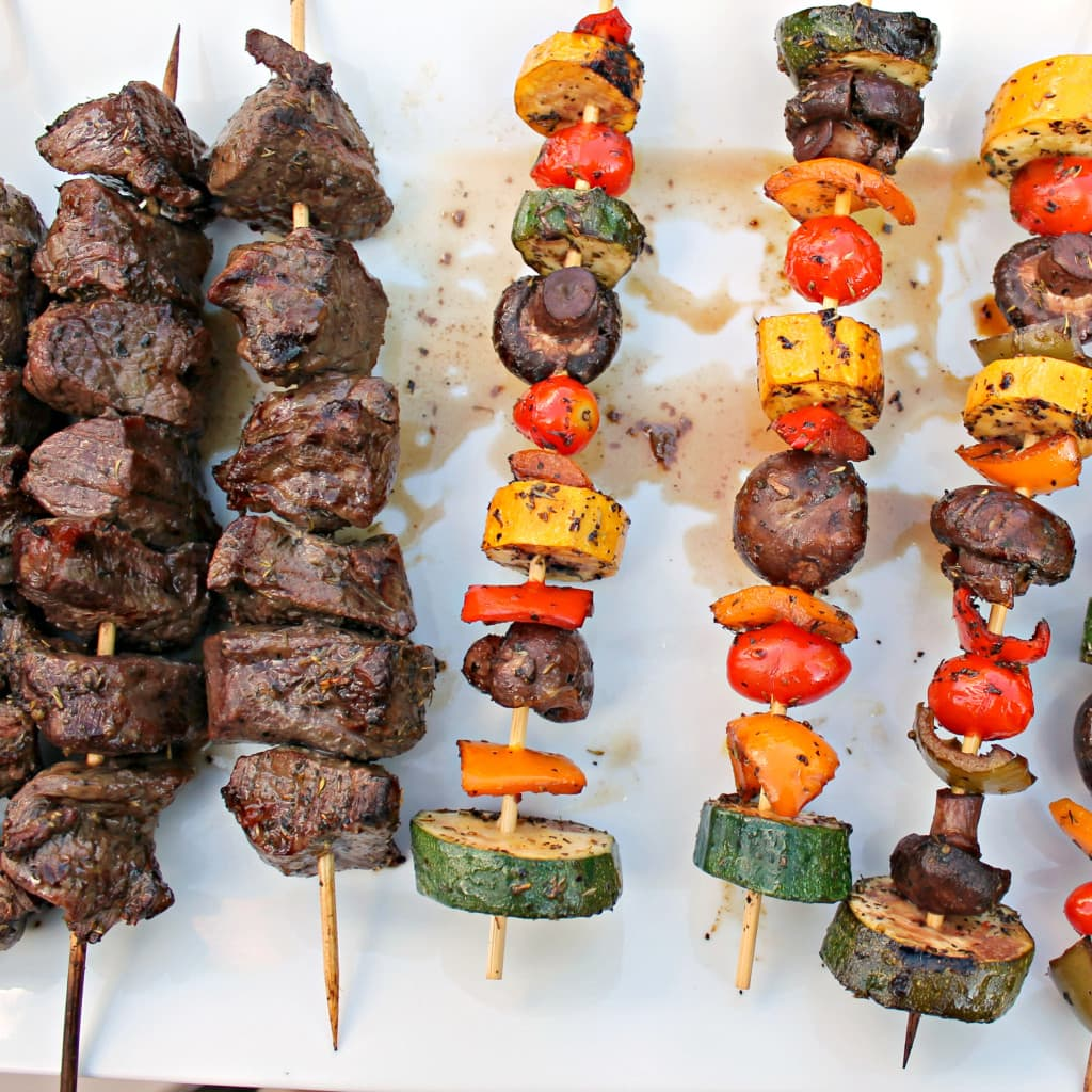 Beef and Vegetable Shish Kabobs