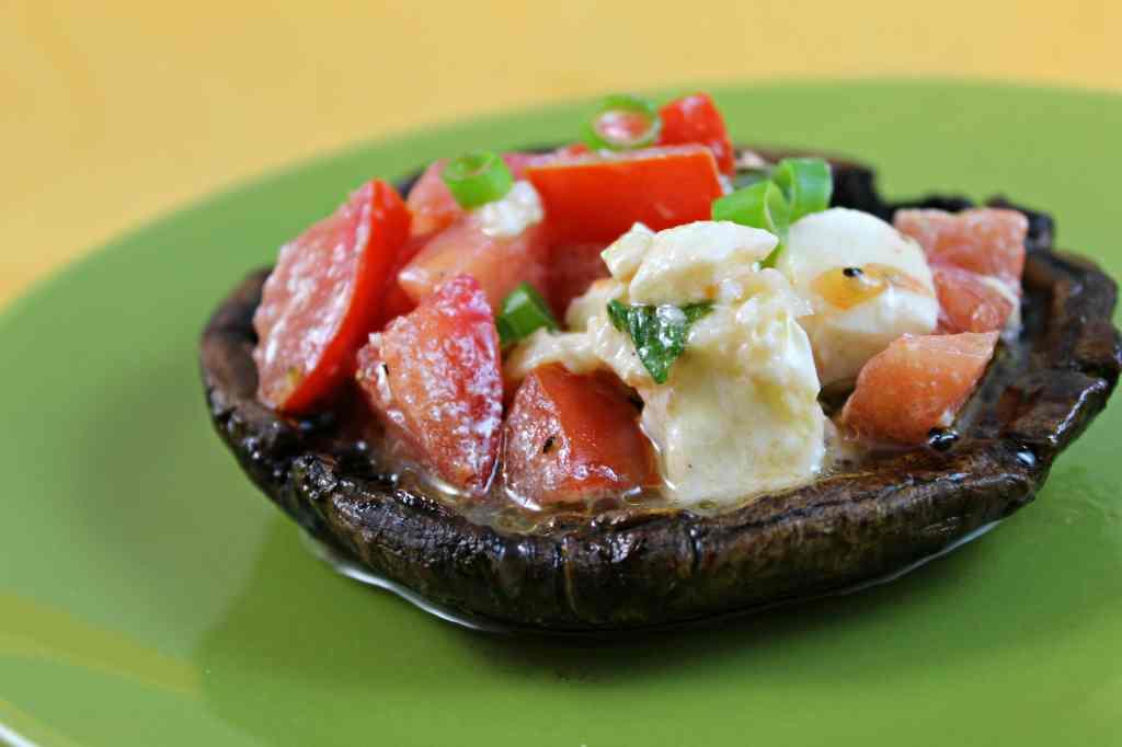 Caprese-Stuffed Grilled Balsamic Portobello Mushrooms