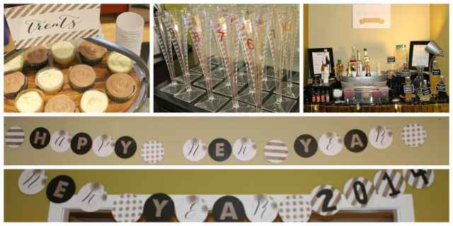 New Years Eve Champagne and Dessert Bars