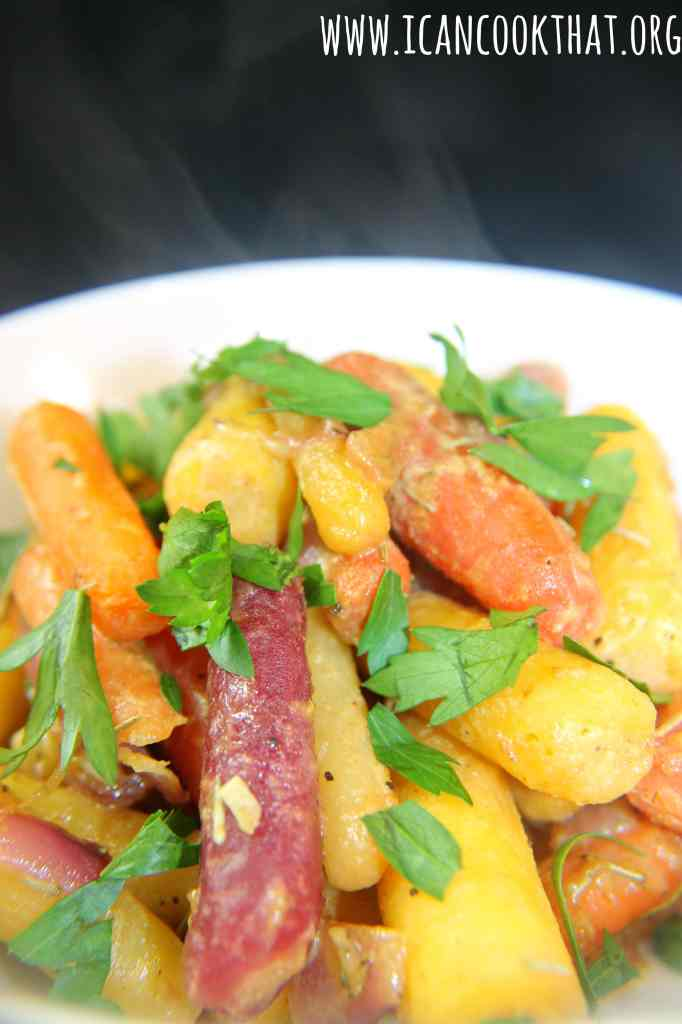 Honey Mustard Roasted Rainbow Carrots
