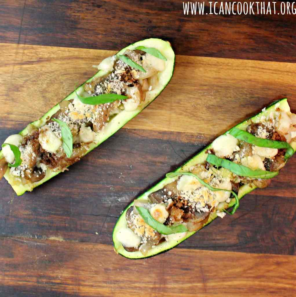 Vegetarian Stuffed Zucchini Boats #MyFarm2Table