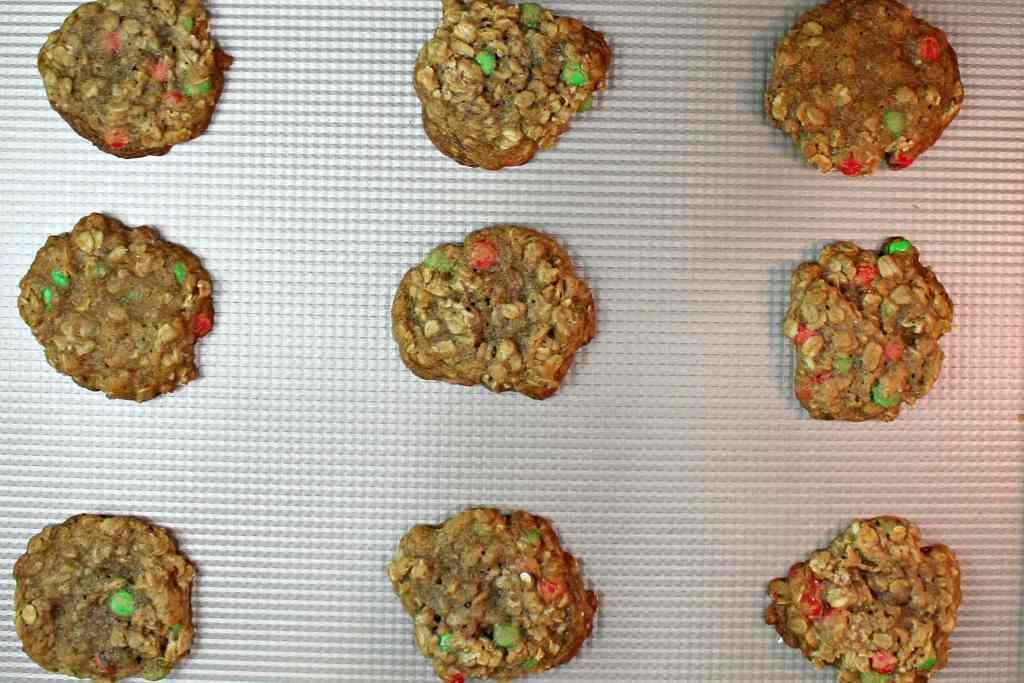 Spiced Oatmeal M&M's® Cookies #MemoriesInTheBaking