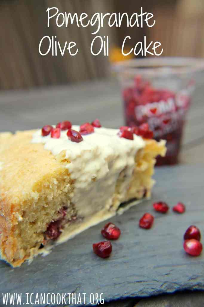 Pomegranate Olive Oil Cake