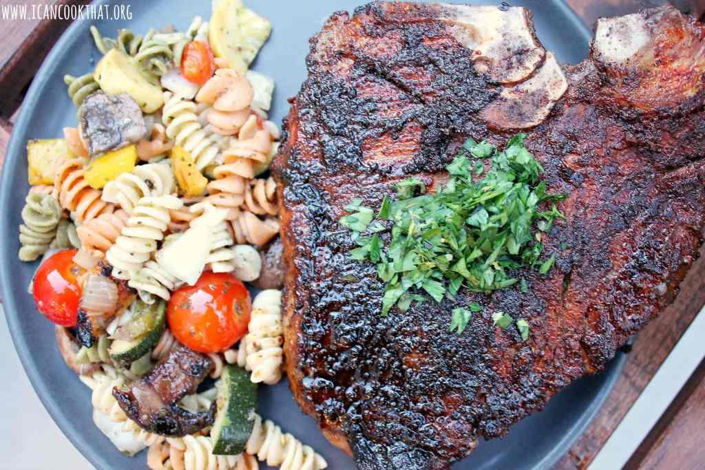 Grilled T-Bone Steak with Gremolata