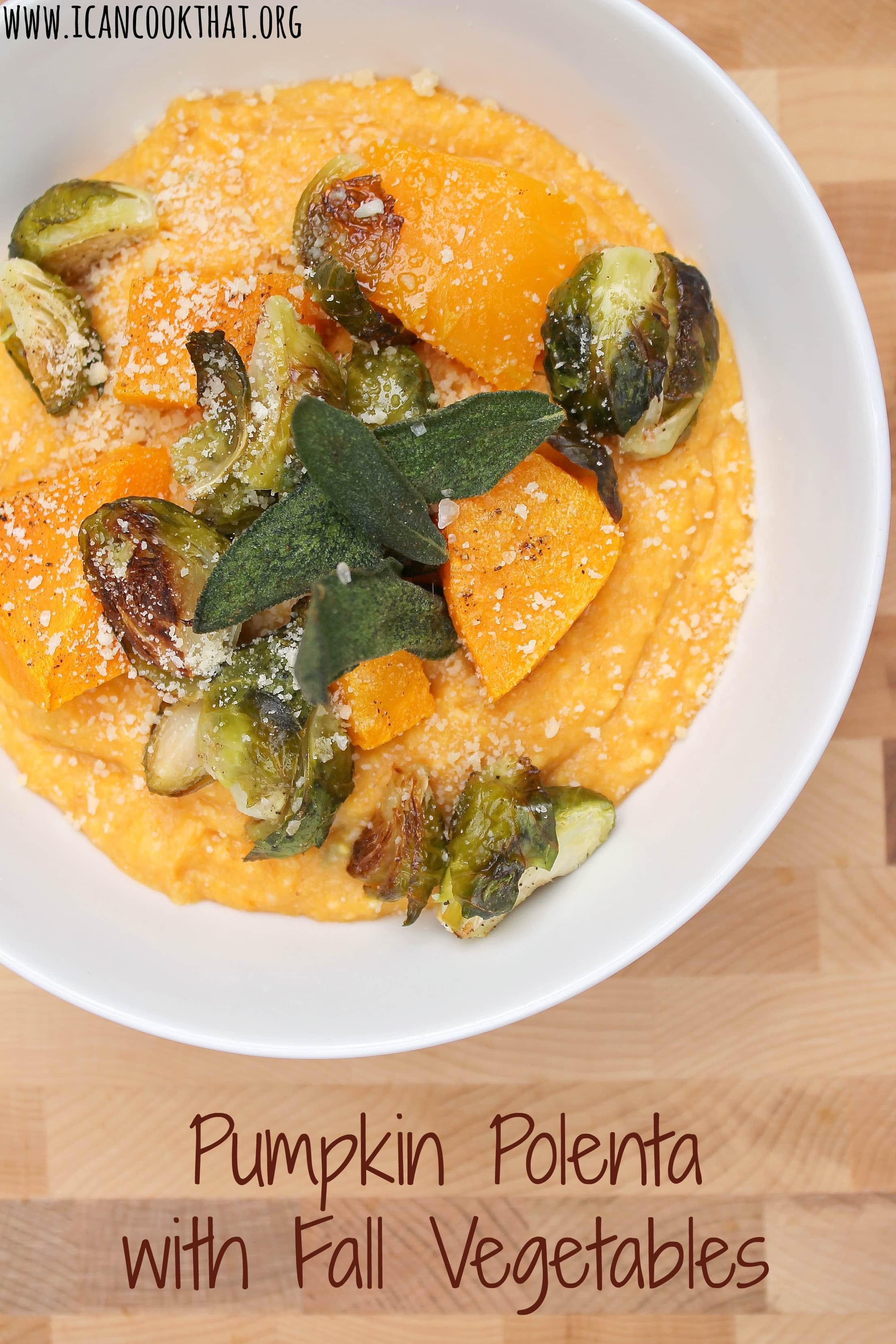 Pumpkin Polenta with Fall Vegetables