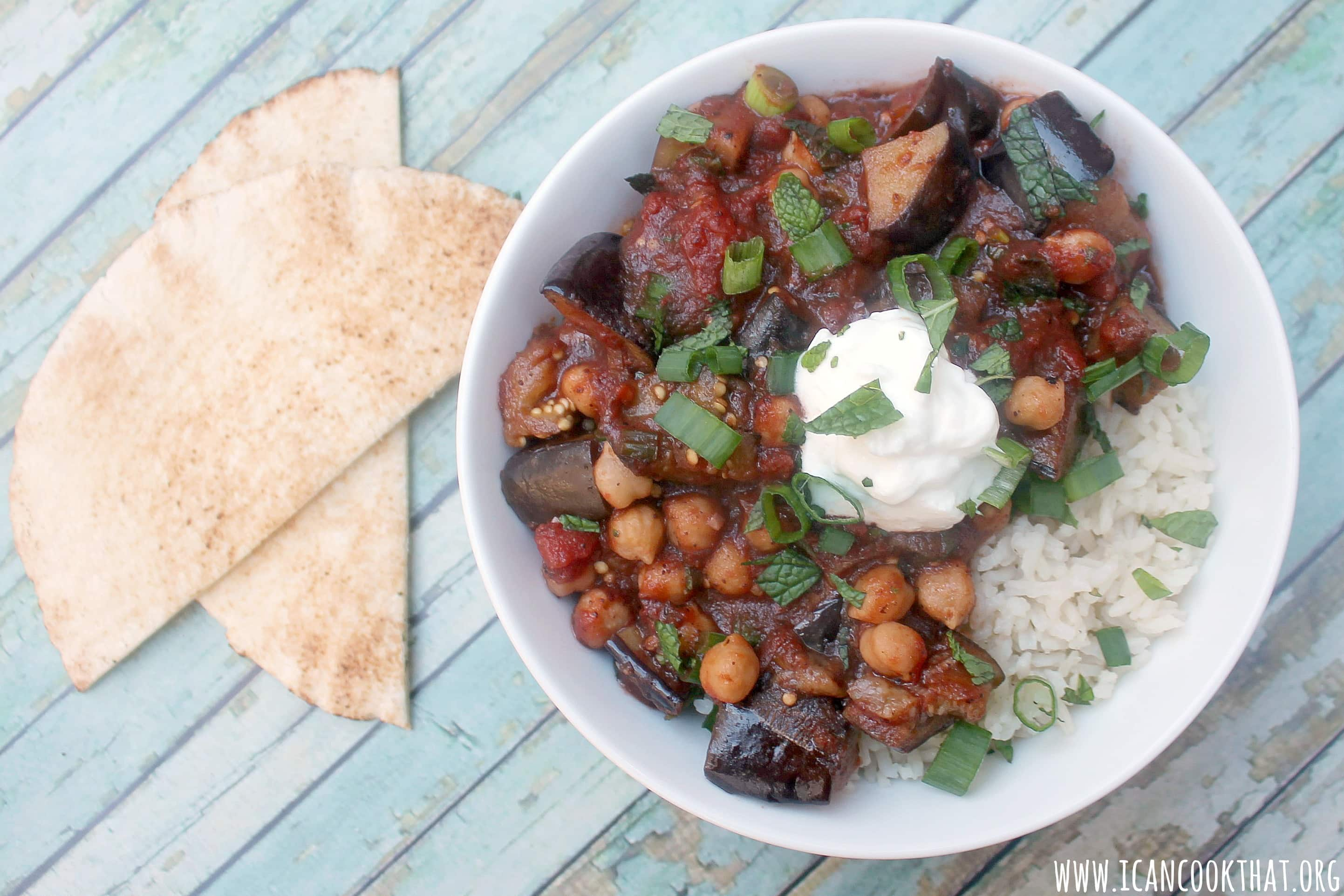Sumac-Scented Eggplant and Chickpeas