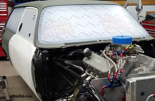 Lexan window in vega wagon