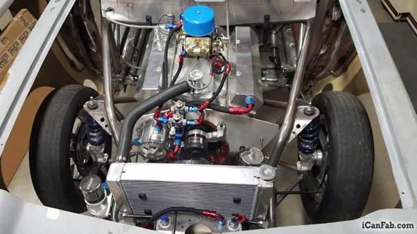 427 SBC installed in vega hatchback