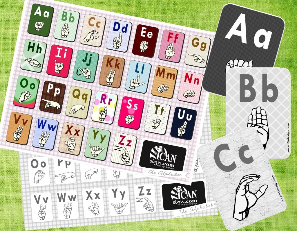 Asl Alphabet Chart And Asl Alphabet Flashcards