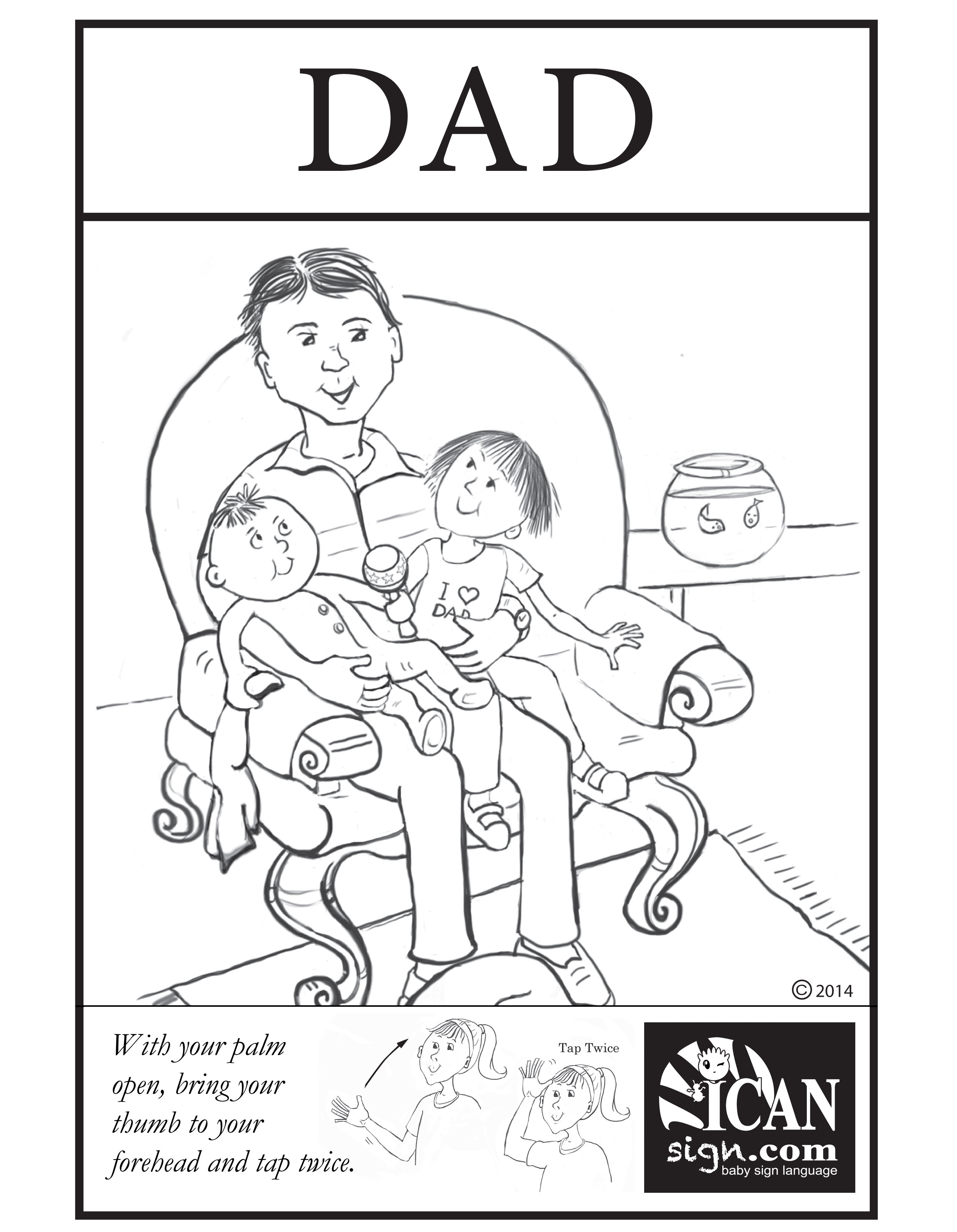 Baby Sign Language Flashcard Dad Free Printable Asl Flashcard