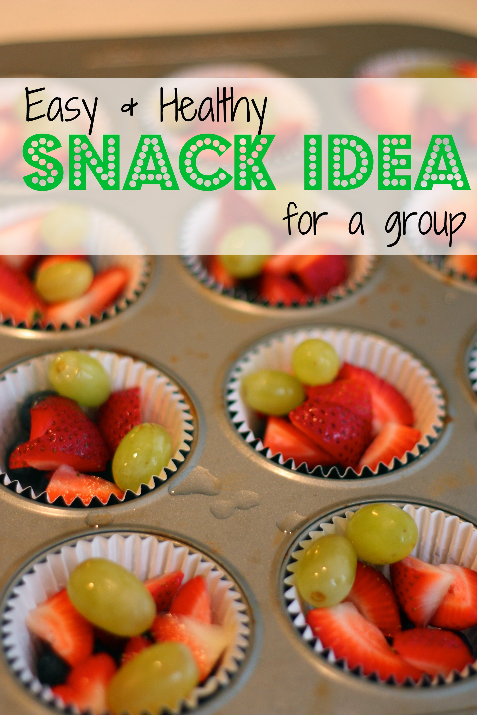 Snack Idea Individual Portions Of Mixed Fruit
