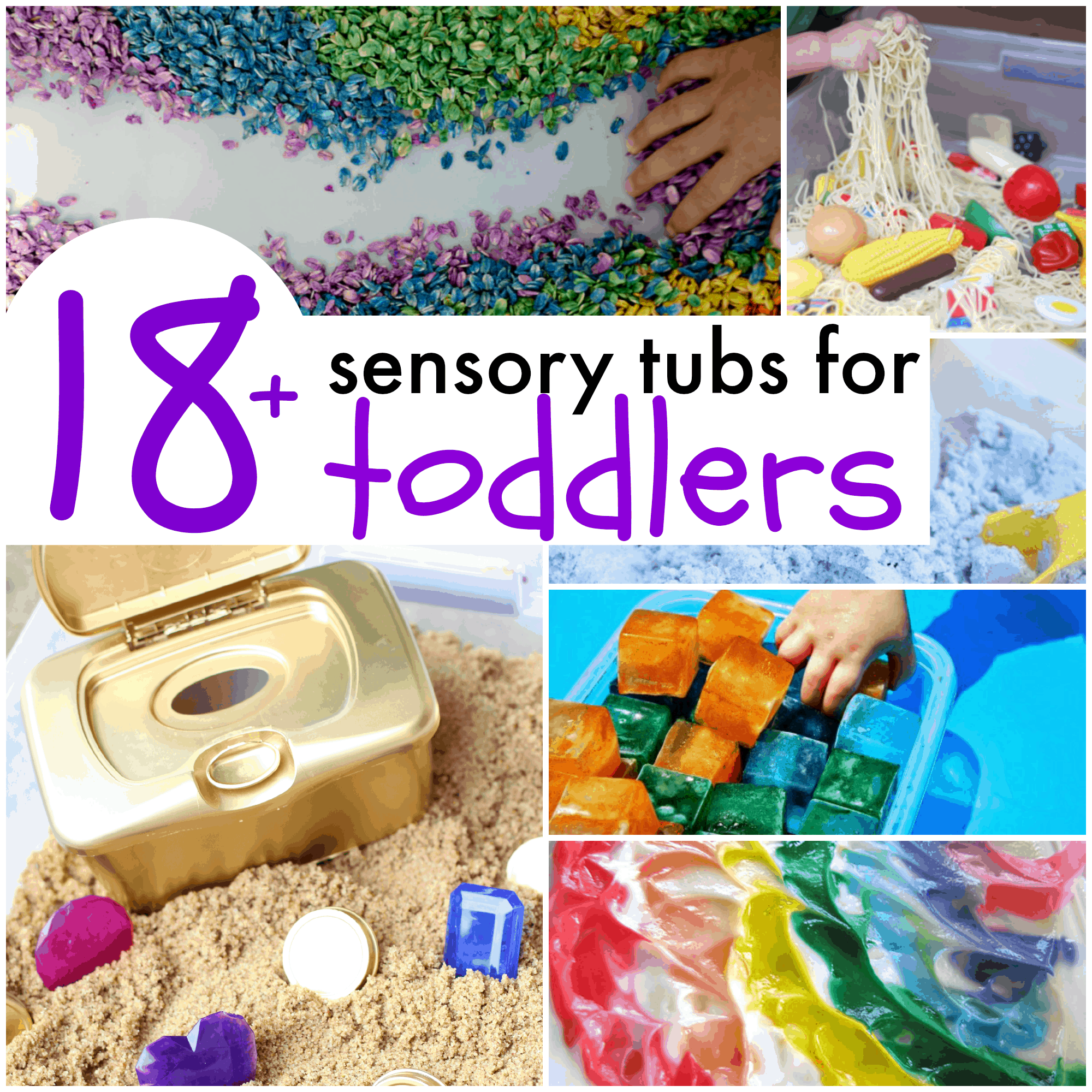 18 Sensory Tubs For Toddlers