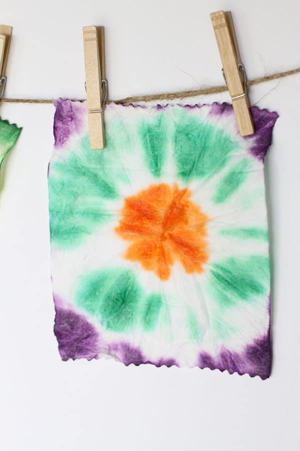 Tie Dye Art with Baby Wipes