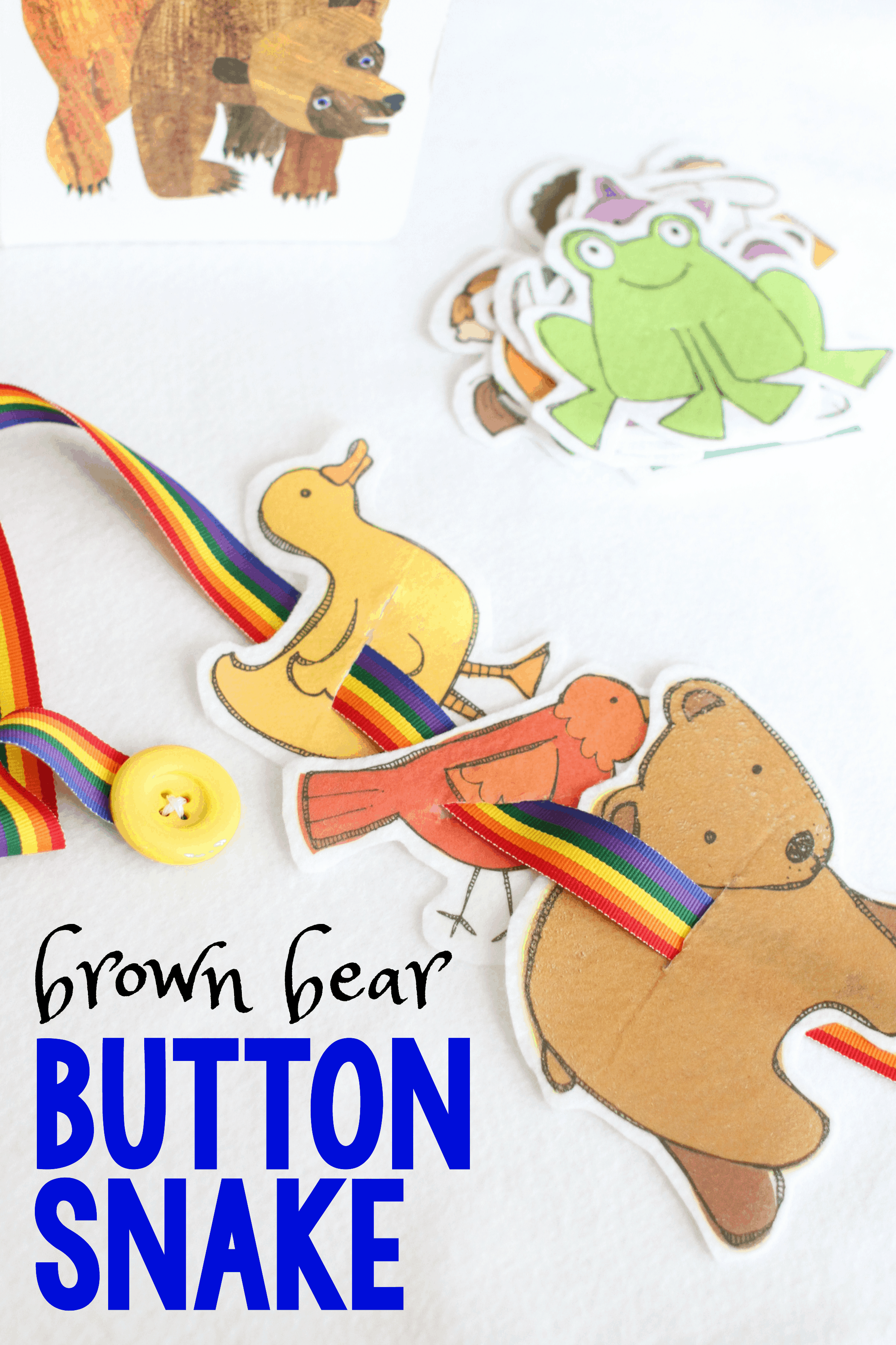Brown Bear Button Snake Retelling
