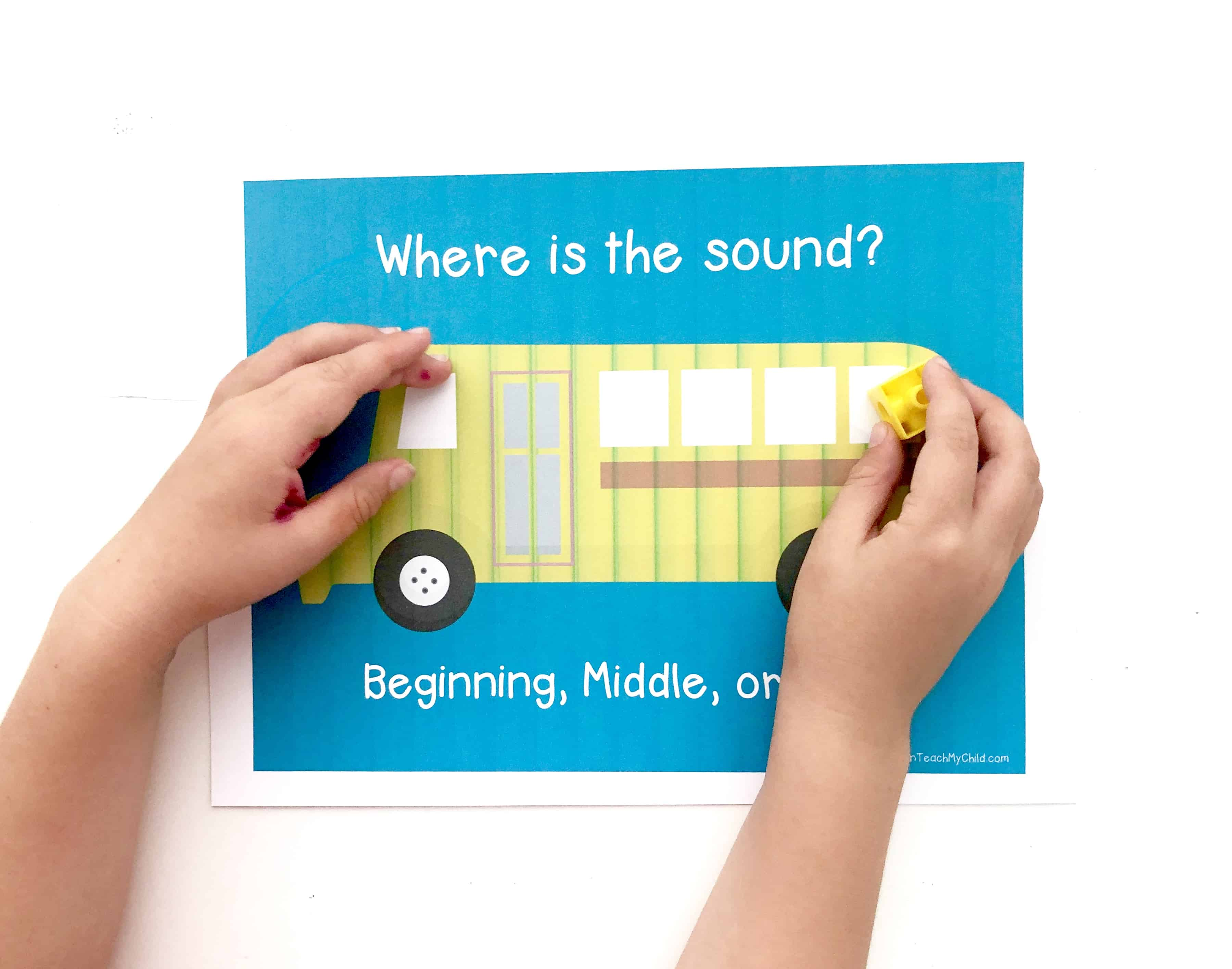Identifying Beginning Middle And Ending Sounds In Words