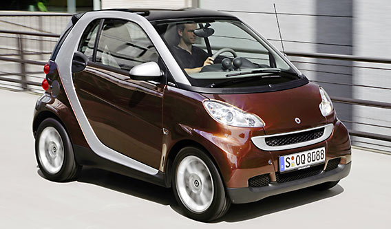 Fortwo edition highstyle in trendy kleur bruin
