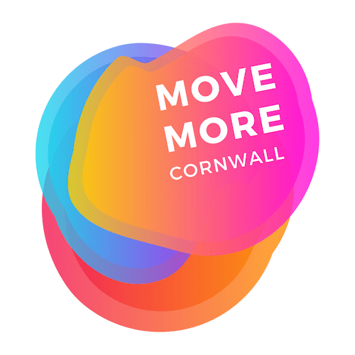 Move More Cornwall Logo in bright colours
