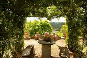 Jardín historico I Casalini agroturismo en Toscana
