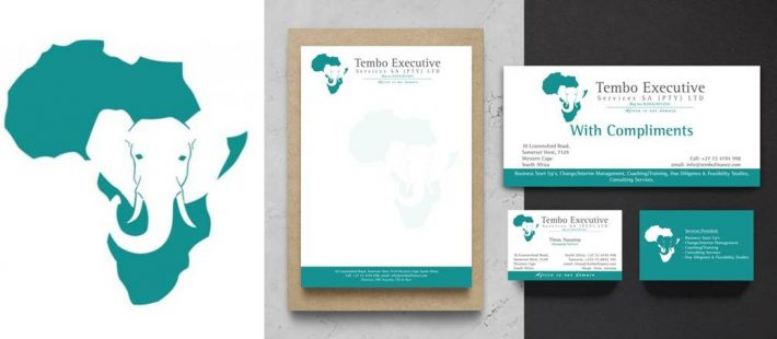 stationery, africa, elephant, business cards, letterhead