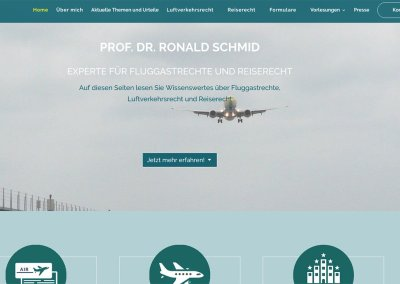 Prof. Dr. Ronald Schmid, Rechtsanwalt