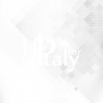 Up For Italy Logo White